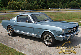 1965 Mustang Silver Blue