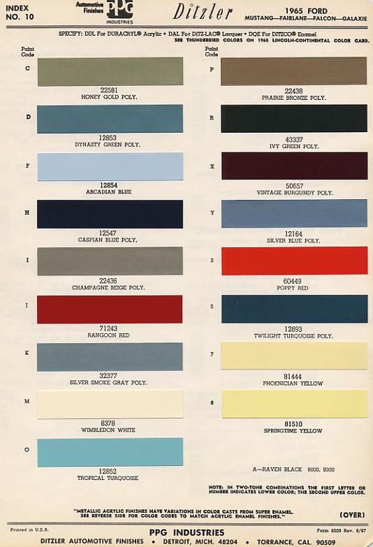 Thunderbird  Paint Colour