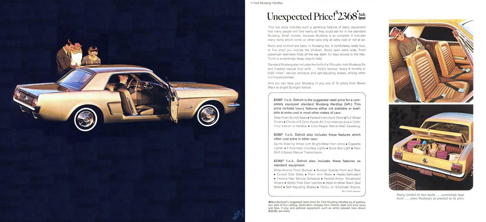 1964.5 Mustang Prospekt Seite 4-5