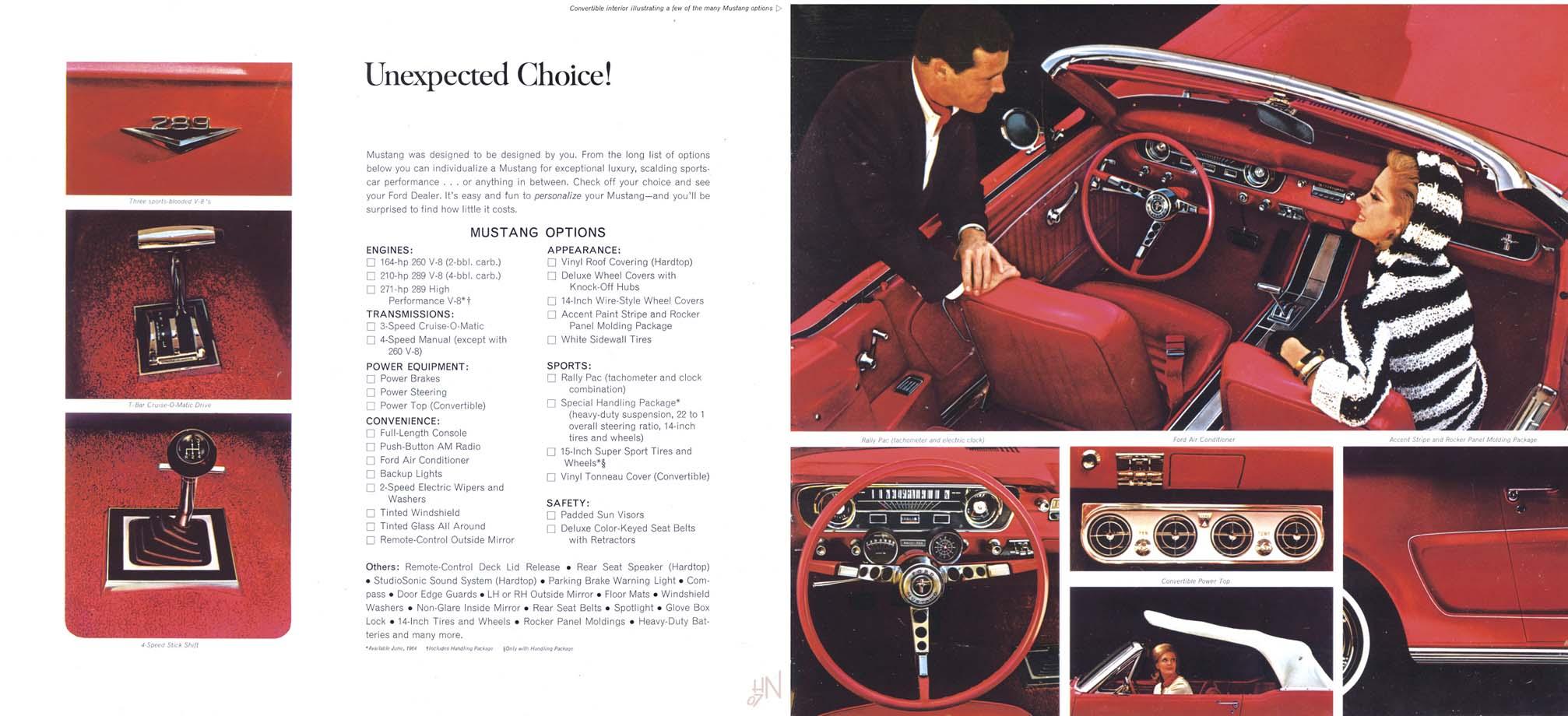 1964.5 Mustang Prospekt Seite 6-7