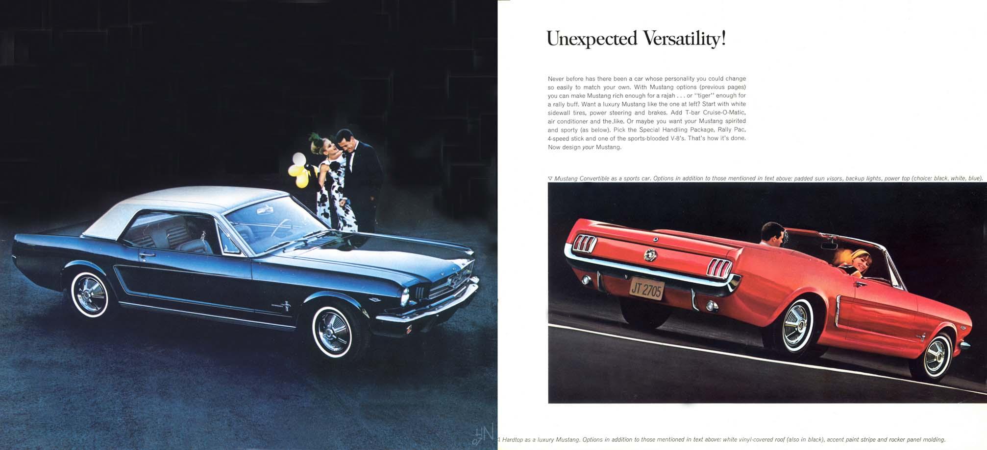 1964.5 Mustang Prospekt Seite 8-9