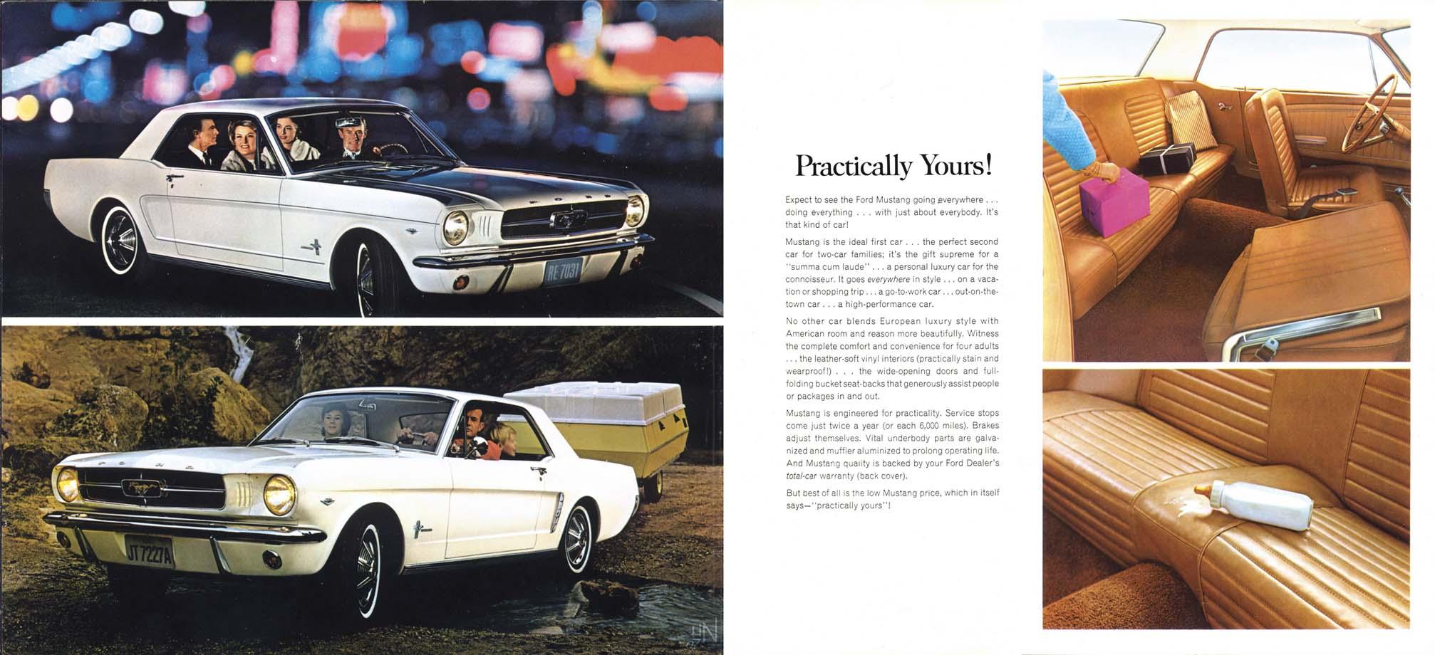 1964.5 Mustang Prospekt Seite 10-11