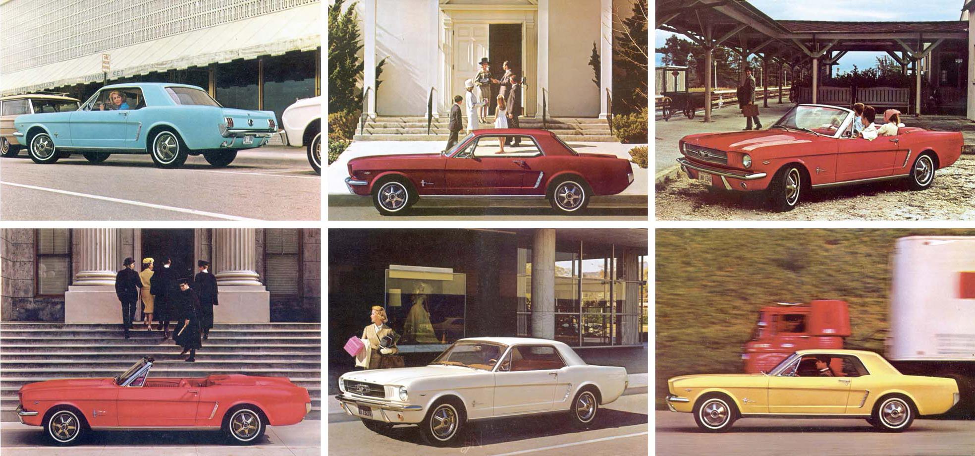 1964.5 Mustang Prospekt Seite 12-13