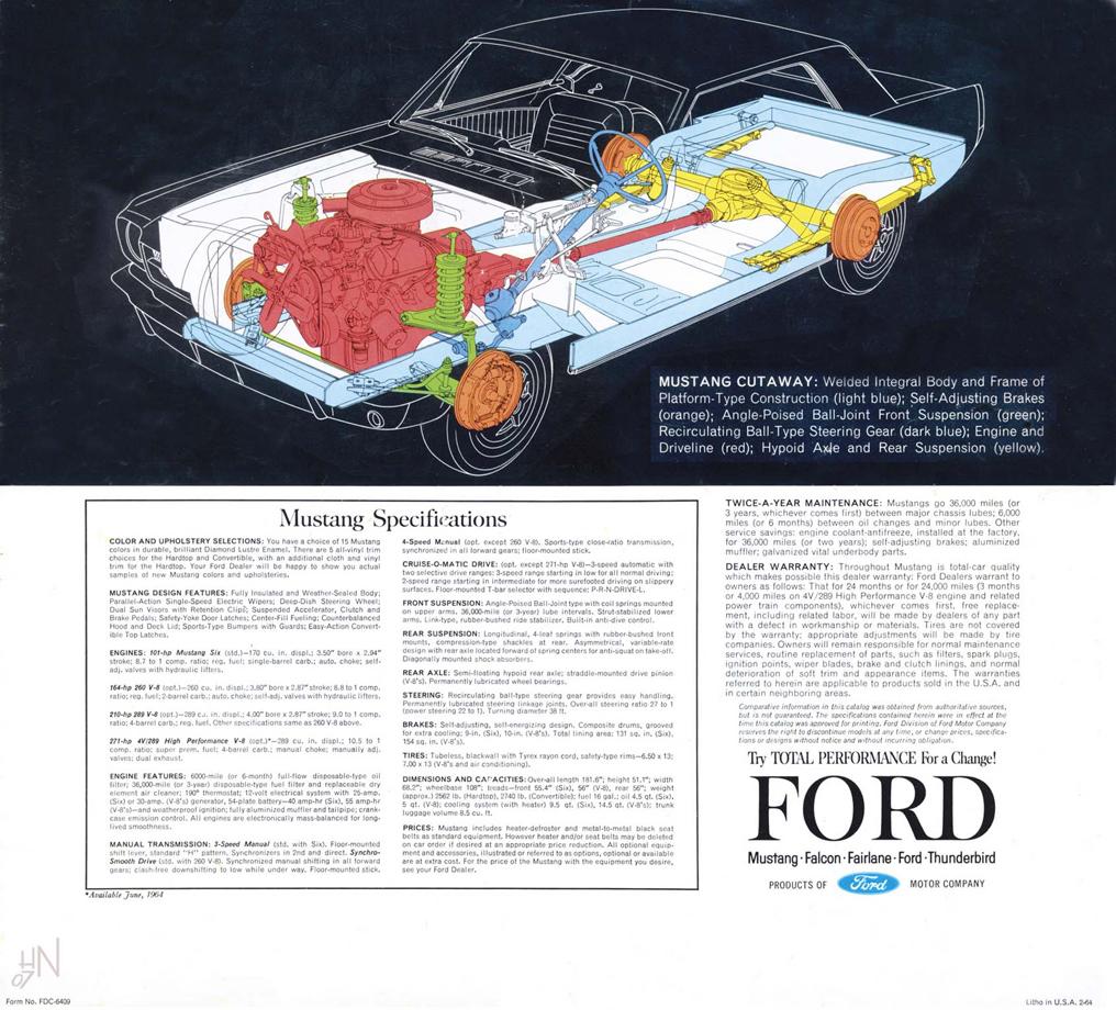 1964.5 Mustang Prospekt Seite 14
