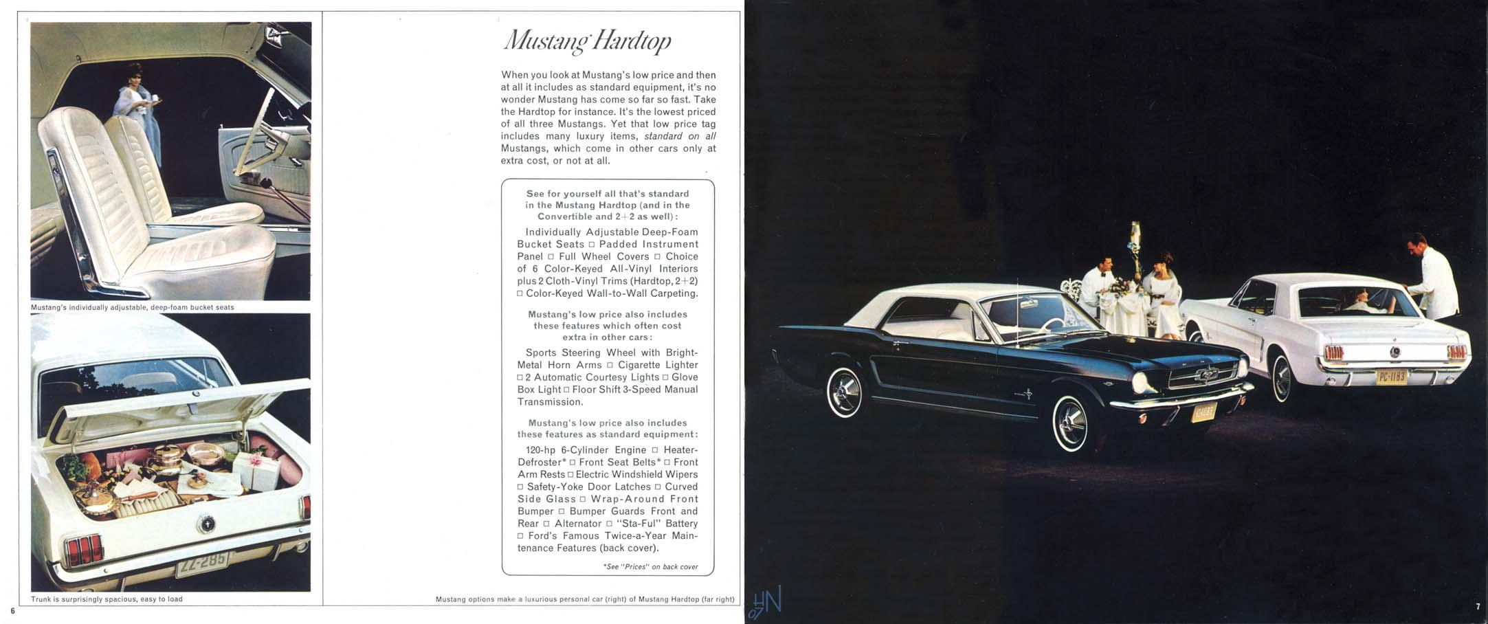 1965 Mustang Prospekt Seite 6-7