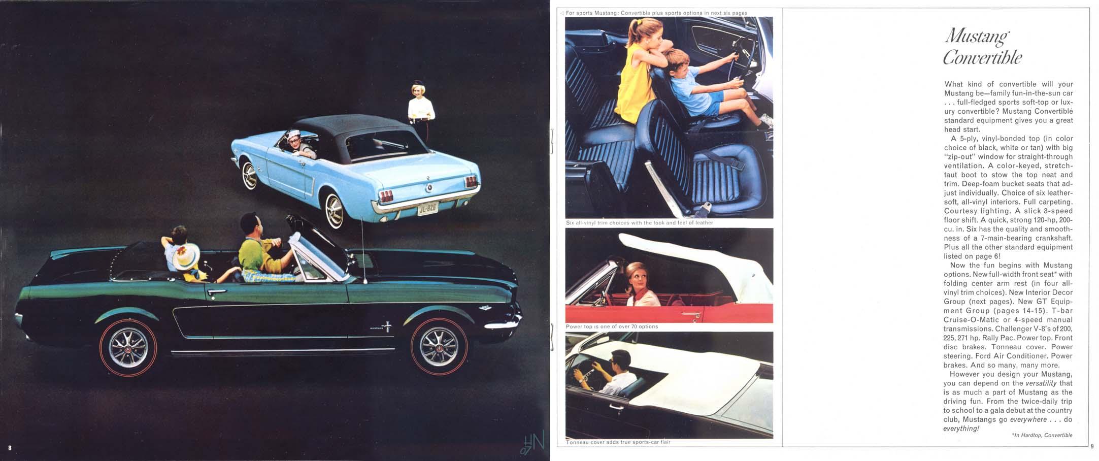 1965 Mustang Prospekt Seite 8-9