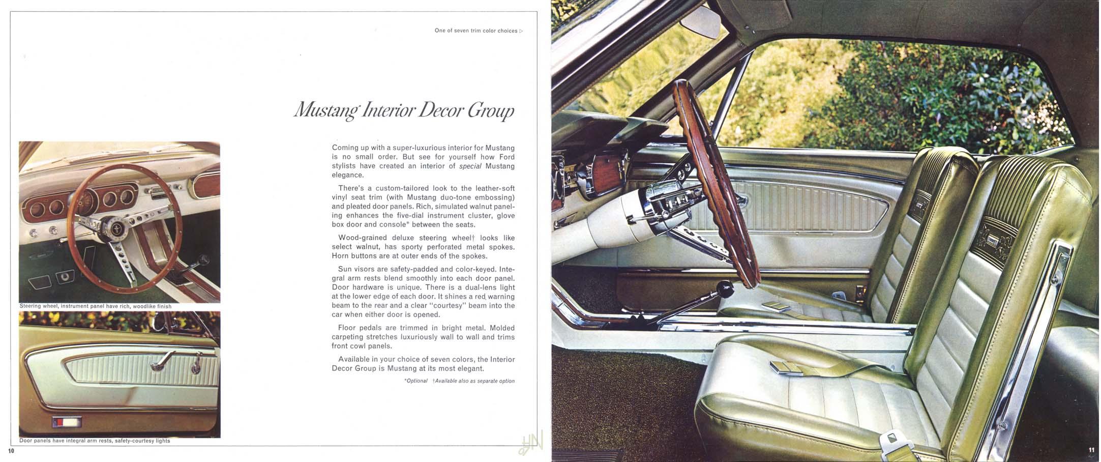1965 Mustang Prospekt Seite 10-11