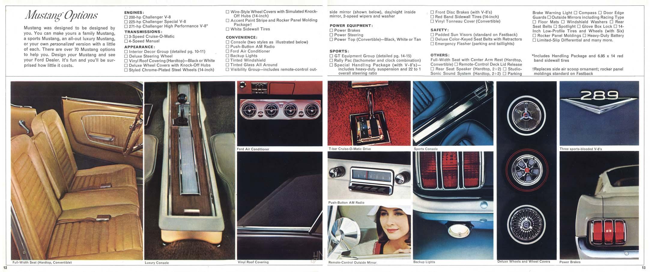1965 Mustang Prospekt Seite 12-13