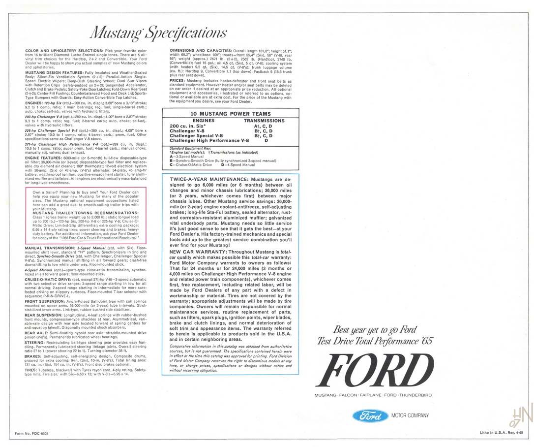 1965 Mustang Prospekt Seite 16