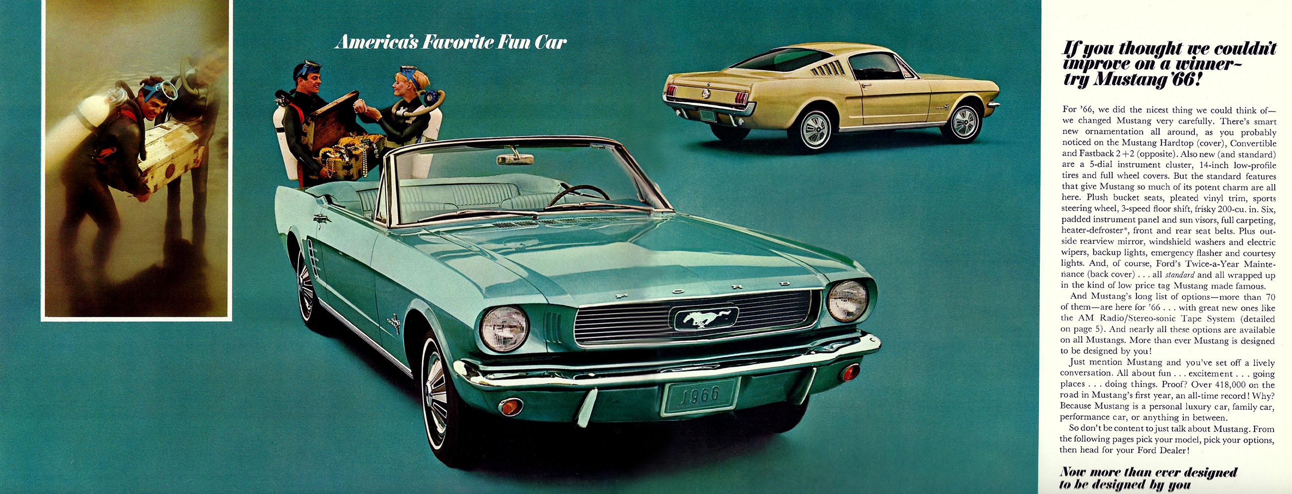 1966 Mustang Prospekt Seite 2-3