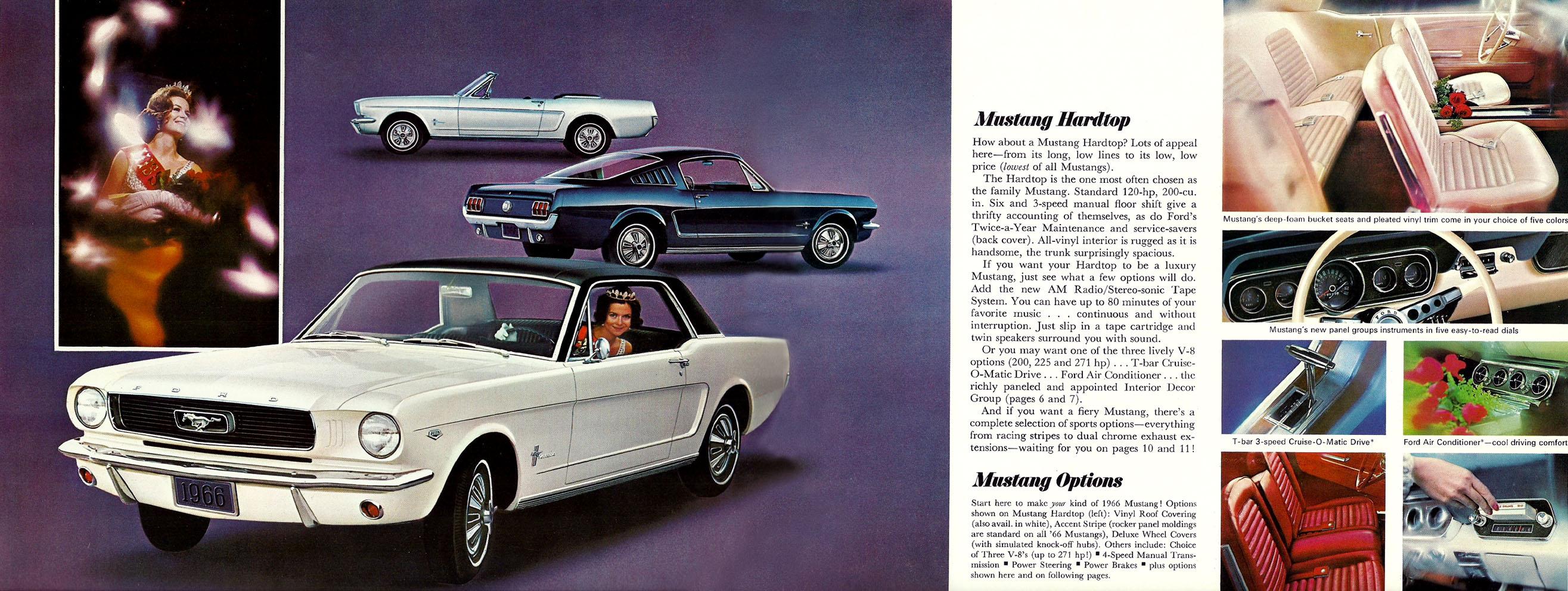 1966 Mustang Prospekt Seite 4-5