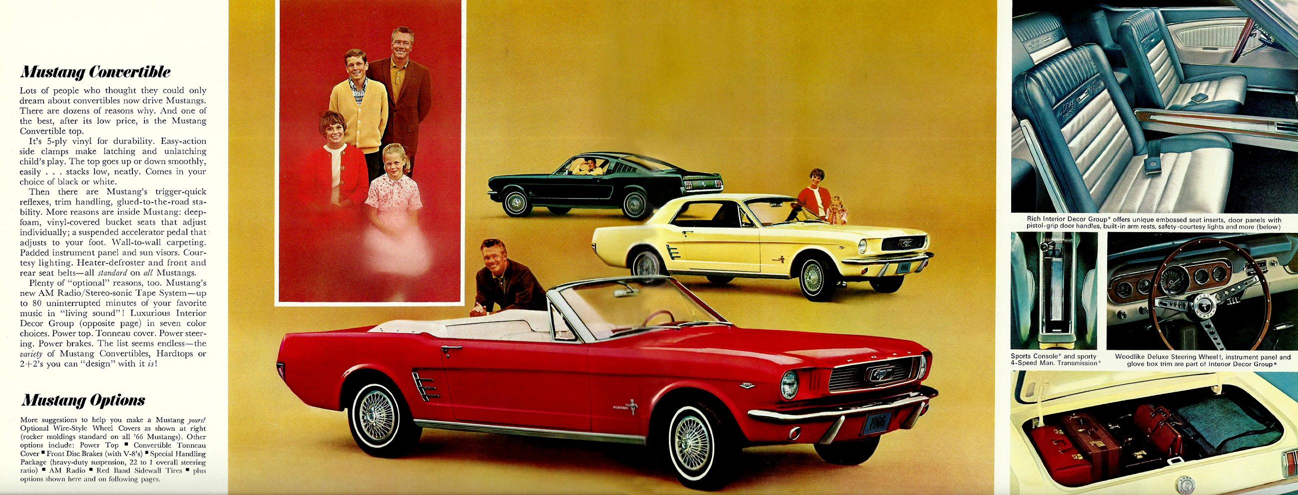 1966 Mustang Prospekt Seite 6-7