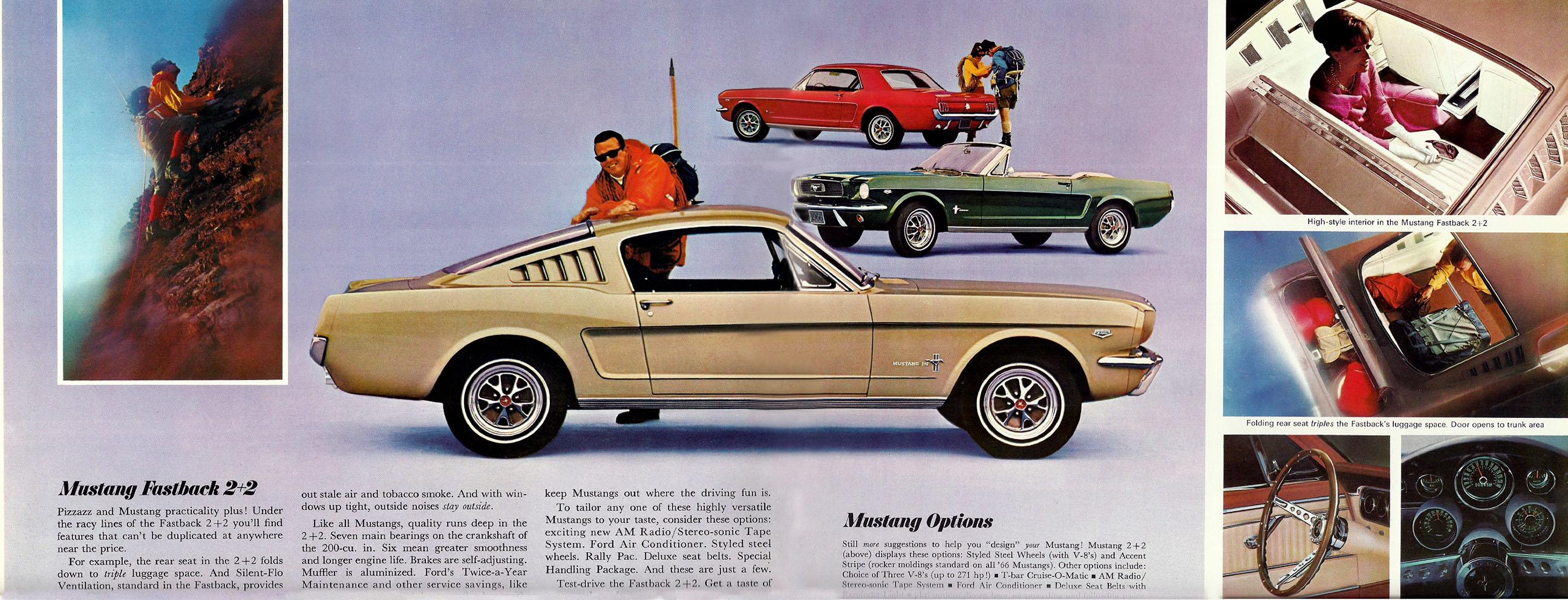 1966 Mustang Prospekt Seite 8-9