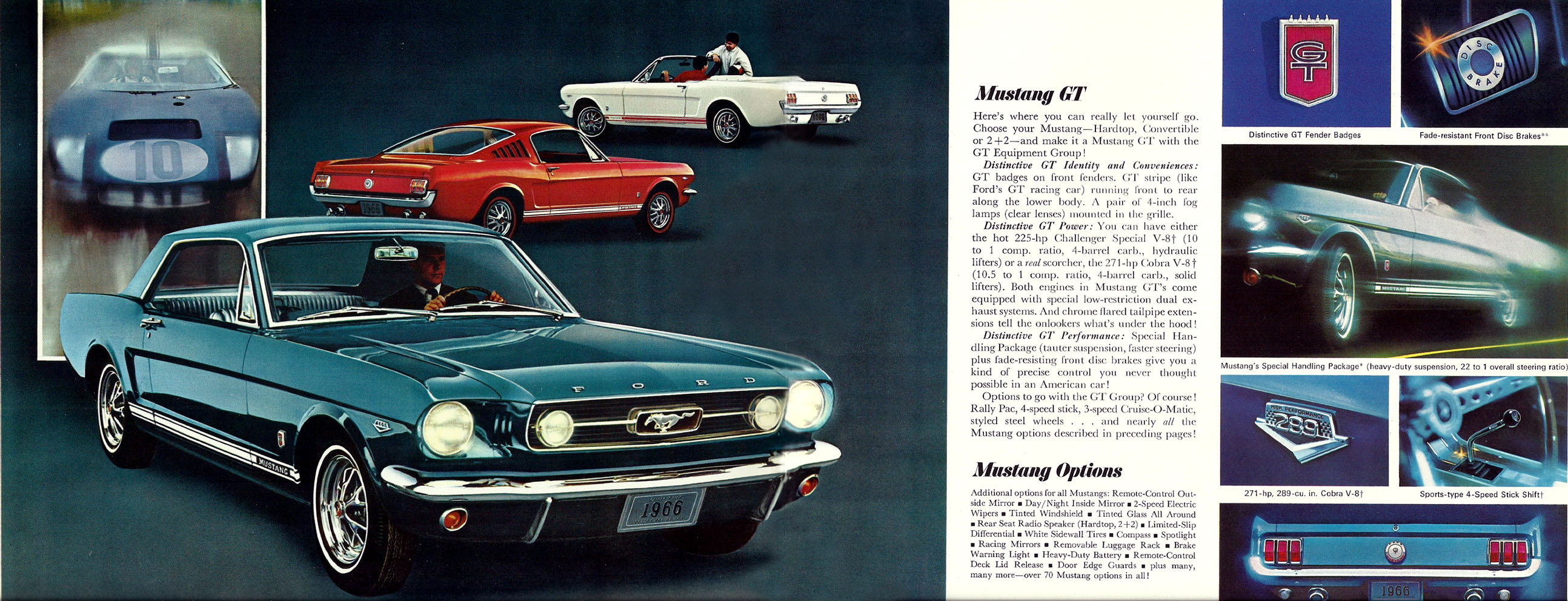 1966 Mustang Prospekt Seite 10-11