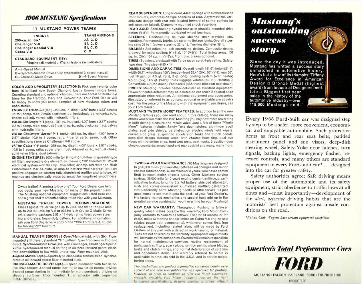 1966 Mustang Prospekt Seite 12