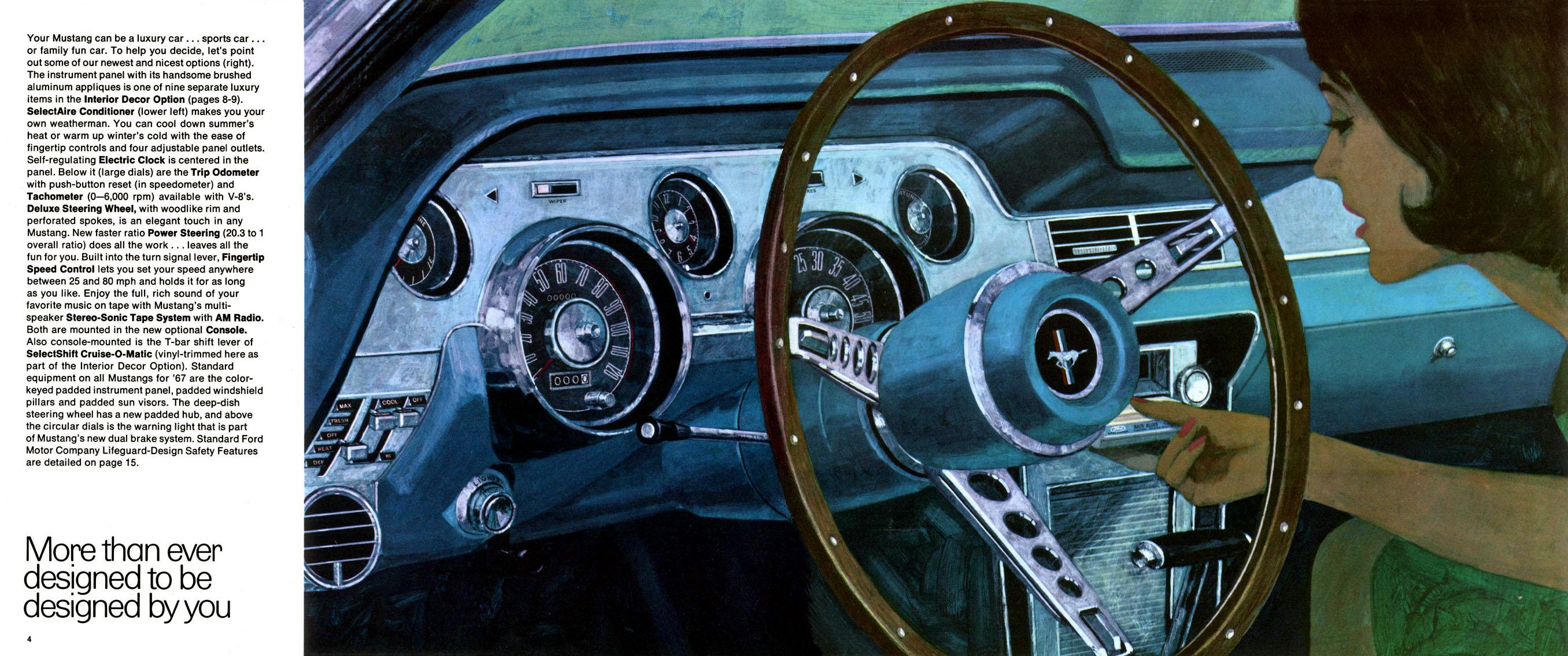 1967 Mustang Prospekt Seite 4-5