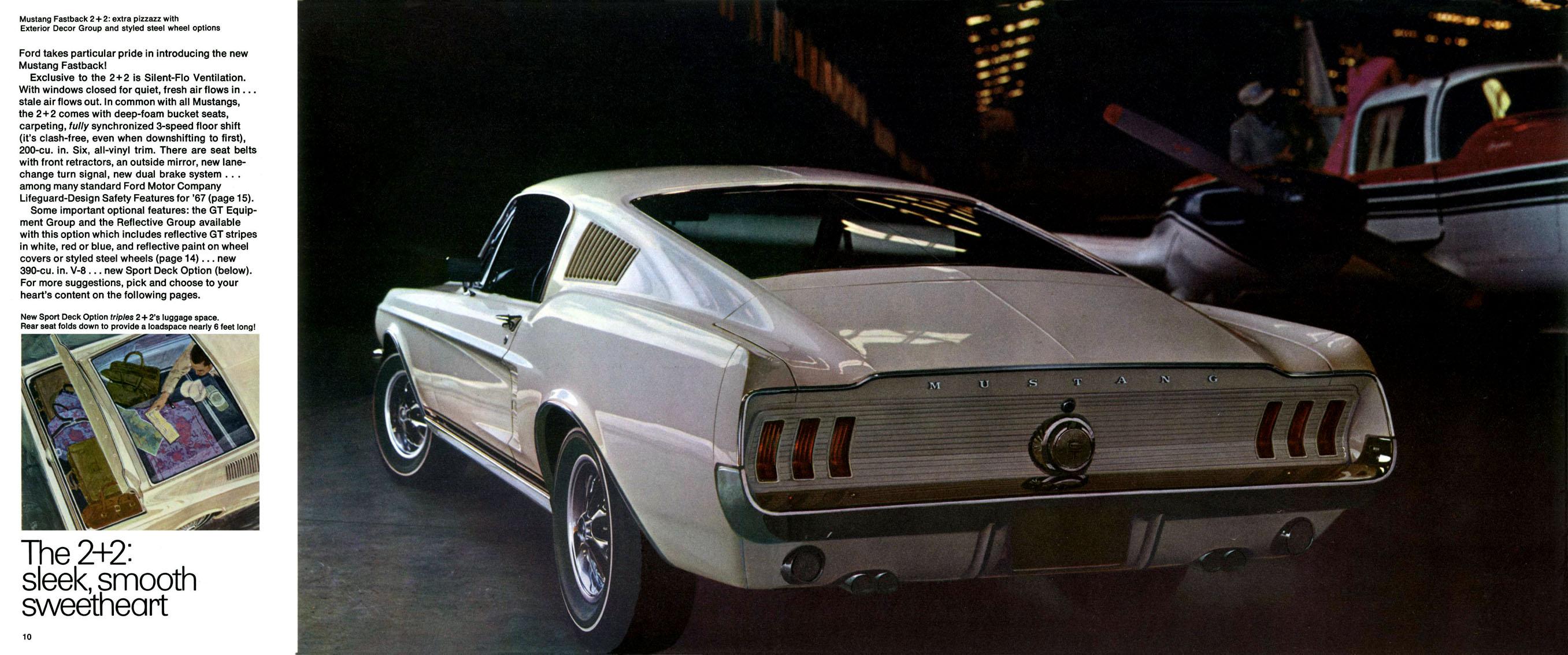 1967 Mustang Prospekt Seite 10-11
