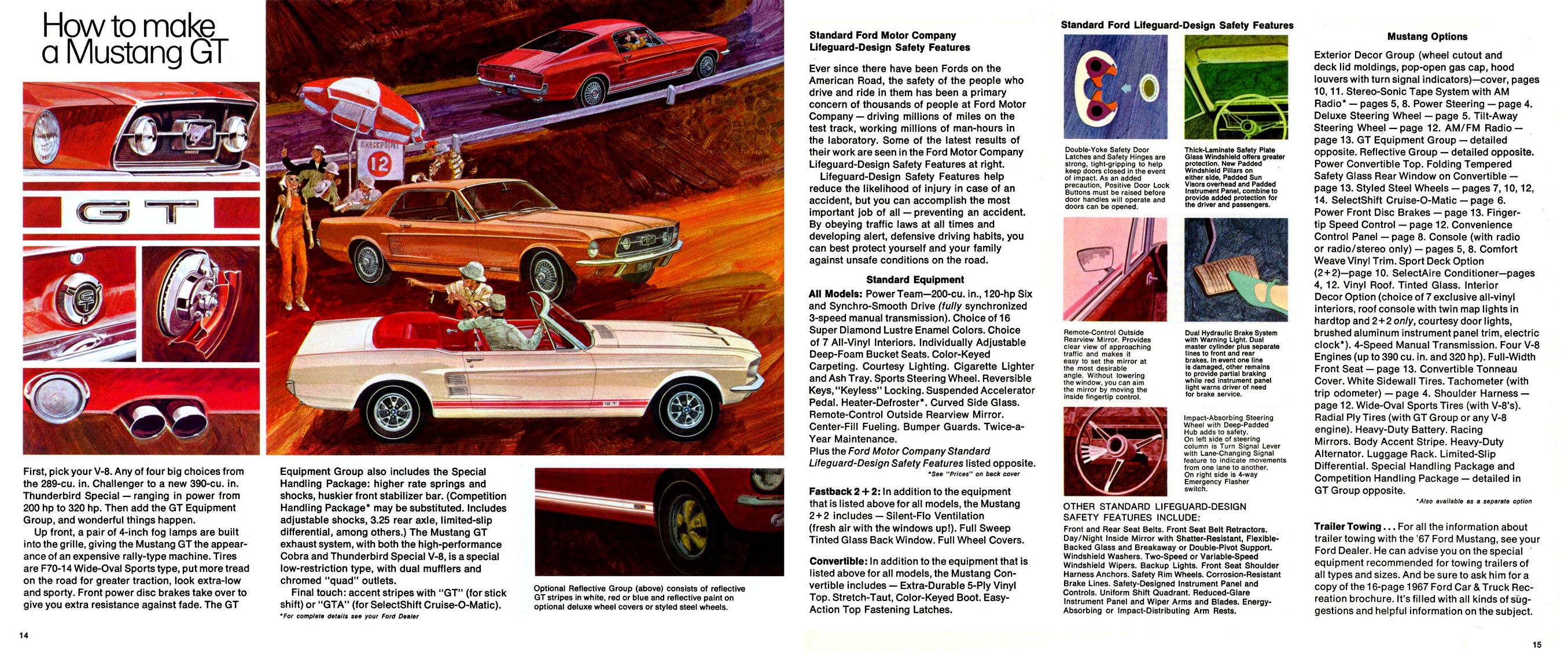 1967 Mustang Prospekt Seite 12-13