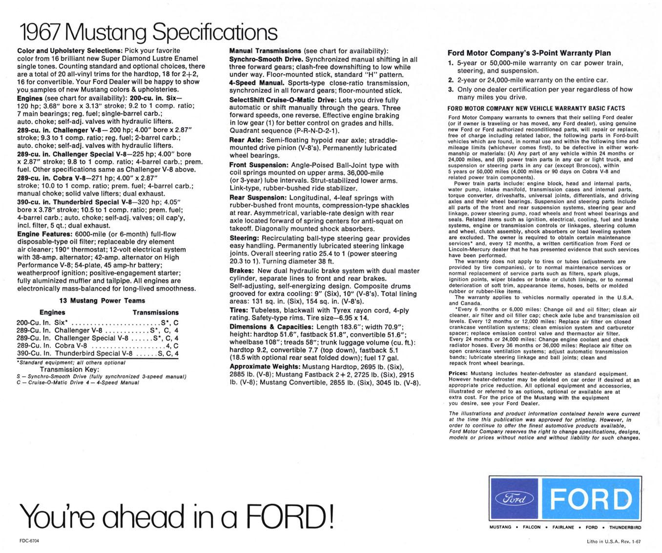 1967 Mustang Prospekt Seite 14