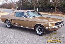 1968 Mustang Sunlit Gold