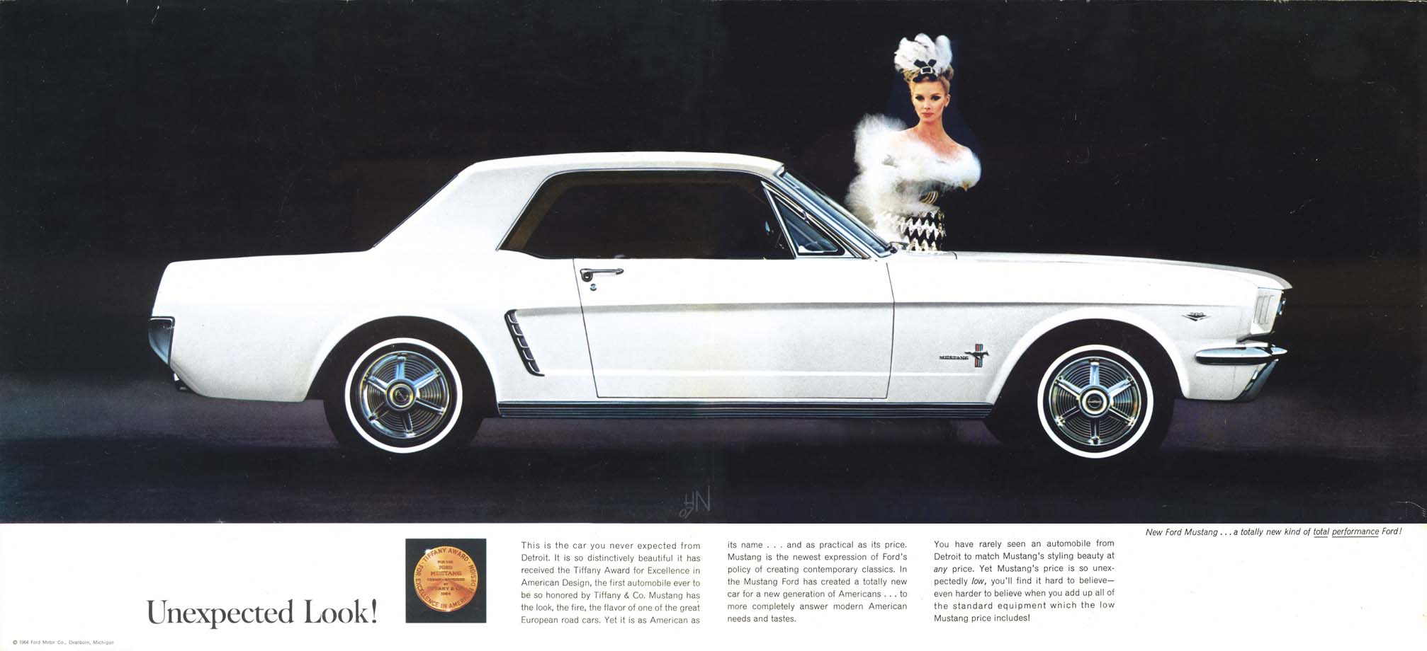 1964.5 Mustang Prospekt Seite 2-3