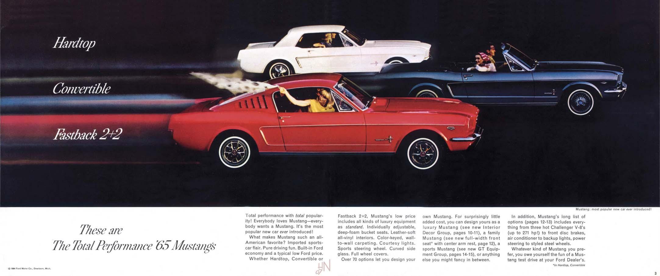 1965 Mustang Prospekt Seite 2-3