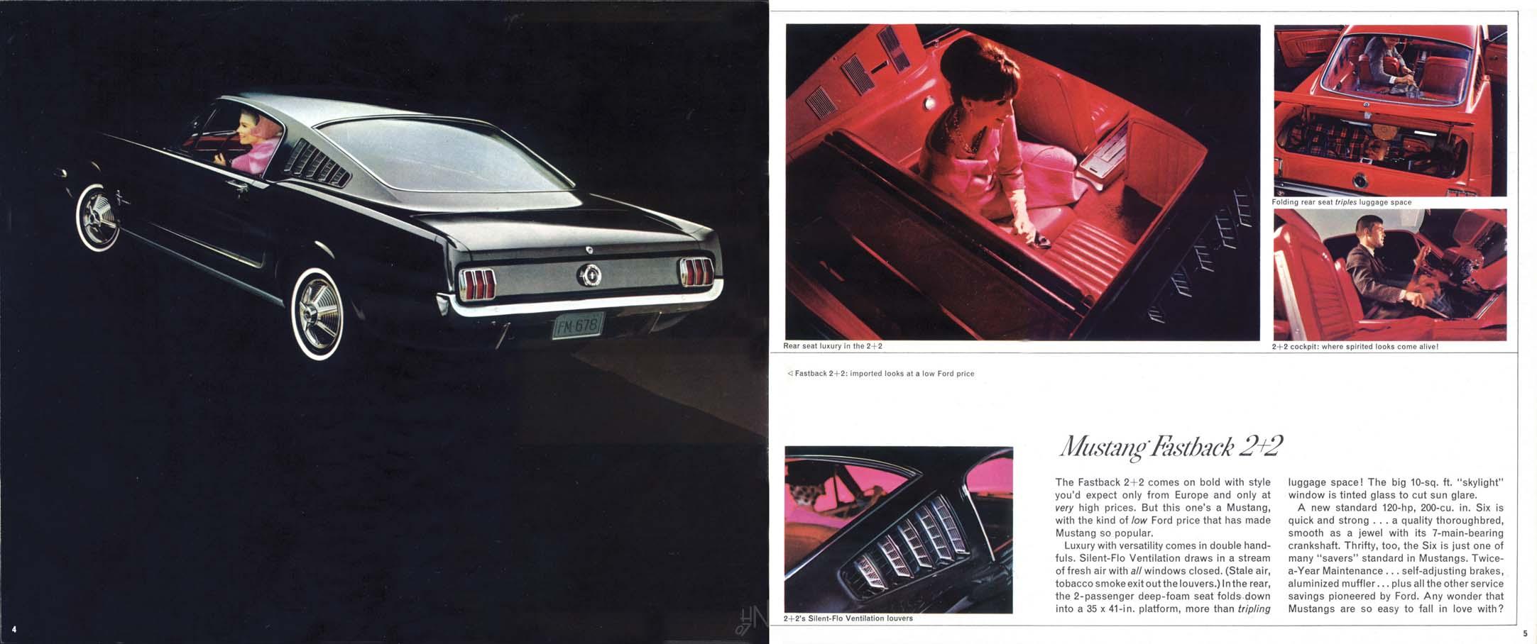 1965 Mustang Prospekt Seite 4-5