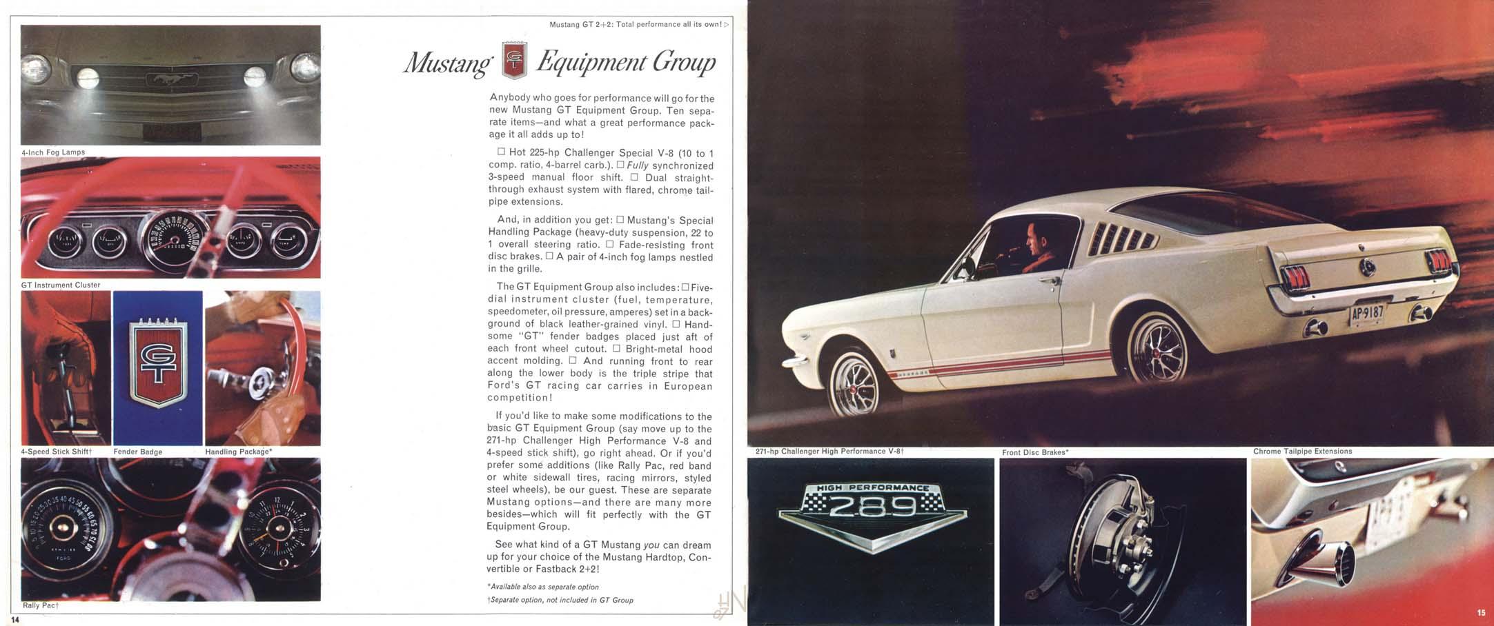 1965 Mustang Prospekt Seite 14-15
