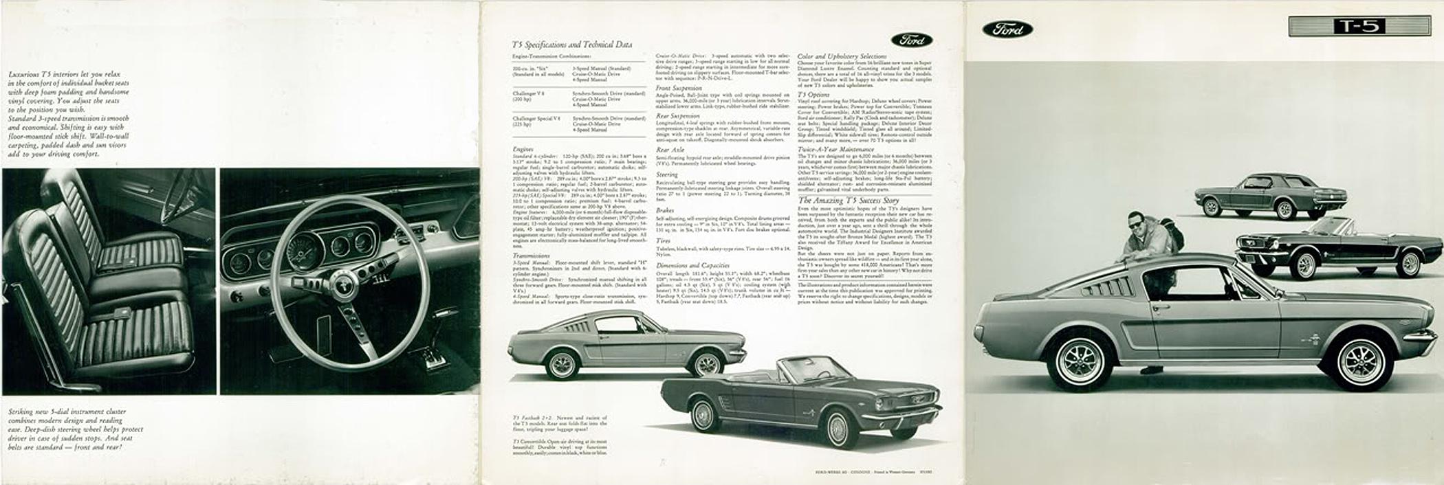 1966 Ford Mustang T5 Prospekt Englisch - Seite 1