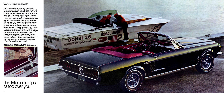 1967 Mustang Prospekt Seite 6-7