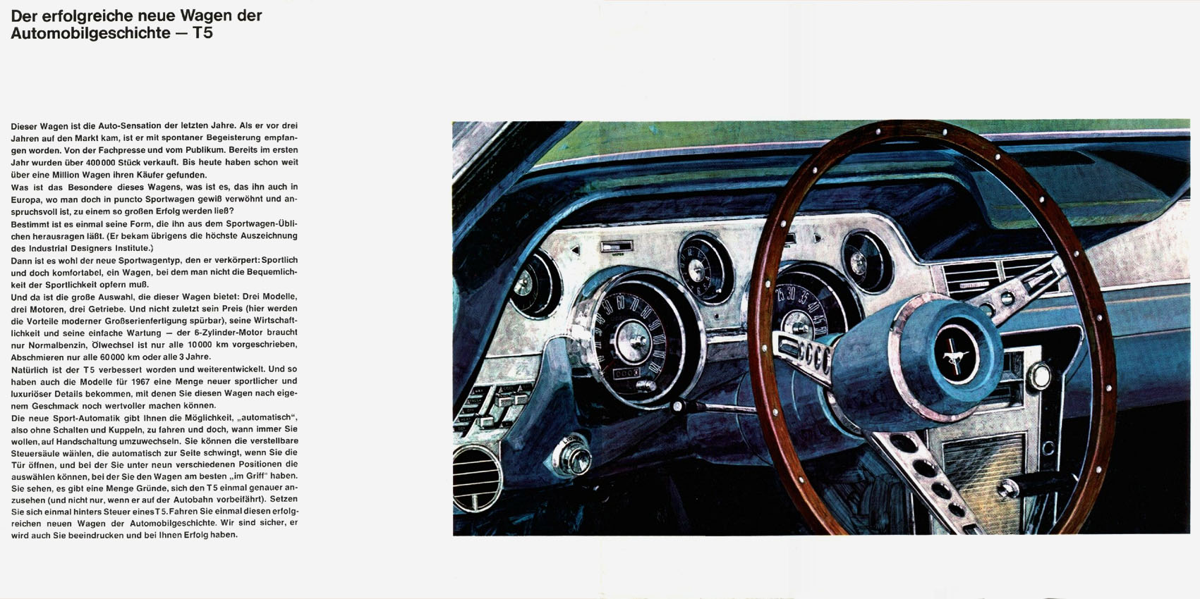 1967 Ford Mustang T5 Prospekt Deutsch - Seite 2-3