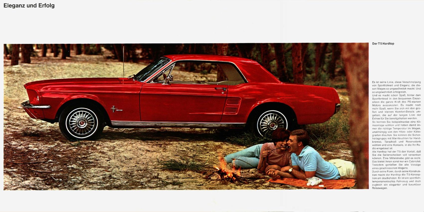 1967 Ford Mustang T5 Prospekt Deutsch - Seite 4-5