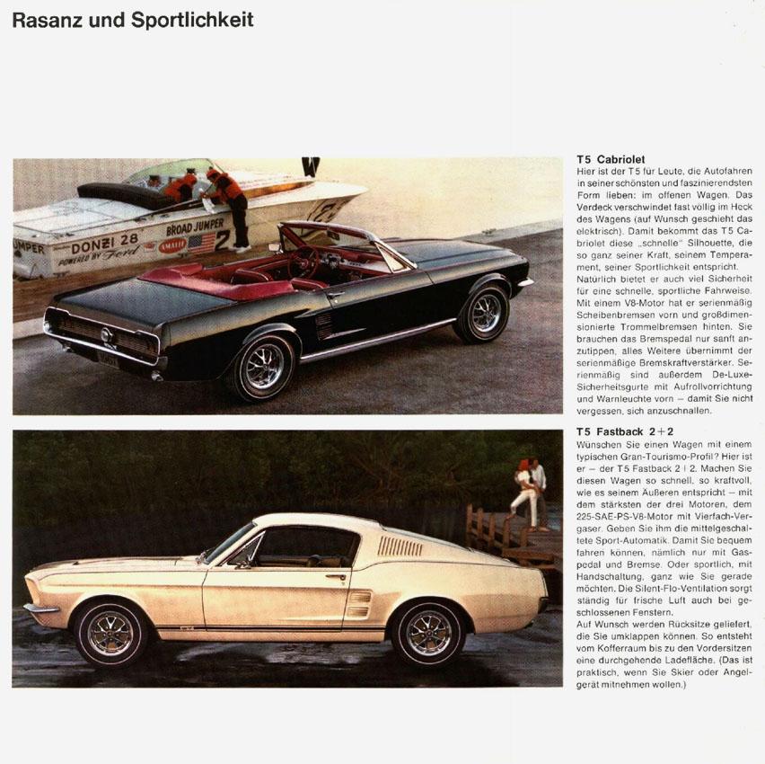 1967 Ford Mustang T5 Prospekt Deutsch - Seite 6
