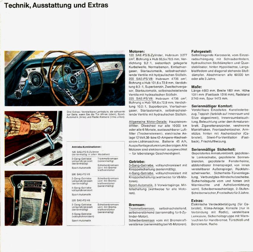 1967 Ford Mustang T5 Prospekt Deutsch - Seite 7
